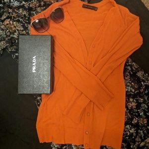 Orange sweater - The Limited